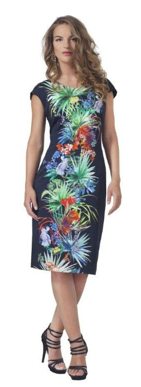 Alison multicoloured panelled dress