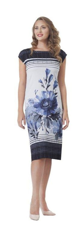 Appleby and Shaw navy short sleeved dress
